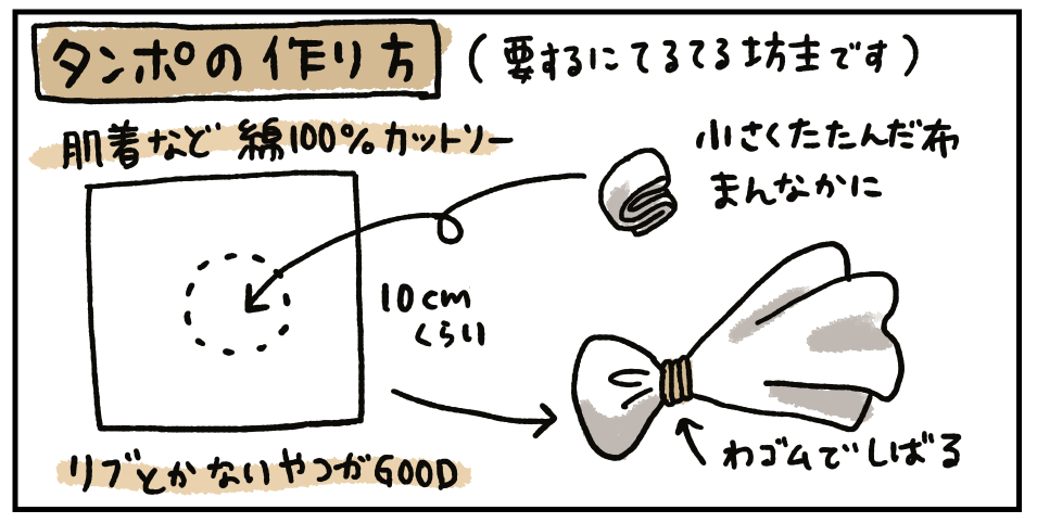 タンポの作り方